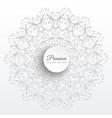 Elegant mandala decoration art background