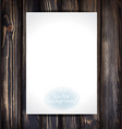 empty paper on the wooden vintage background vector image vector image