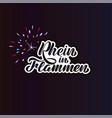 festival rhine in flames - rhein in flammen vector image vector image