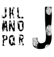 Fingerprint Alphabet Full J to R Set 2 of 3 vector image