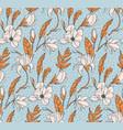 floral botanical print white rose modern seamless vector image vector image