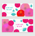 flower banner holiday vector image vector image