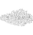 forums word cloud concept vector image vector image