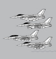 general dynamics f-16 fighting falcon vector image vector image