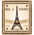 Grungy French coffee background vector image vector image