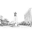 gwanghwamun square statue seoul vector image
