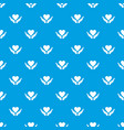 hands holding heart pattern seamless blue vector image vector image