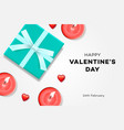 happy valentines day background symbol of love vector image vector image