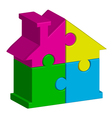 house from puzzles vector image vector image