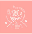 hygge background with hand drawn cozy home vector image vector image