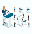isometry is a woman president voting elections vector image