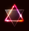 jewish david star design triangle banner vector image