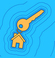 key with keychain as an house sign sand vector image