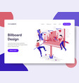 landing page template billboard design process vector image