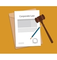 Legal concept of company law vector image vector image