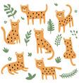 leopard set vector image vector image