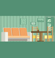 living room and dining room with furniture vector image vector image