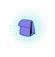Lunch bag icon comics style vector image vector image