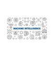 machine intelligence outline horizontal vector image