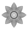 mandala flower decorative ethnic element adult vector image