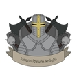 Medieval knight emblem vector image vector image