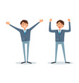 men happy because of success successful bosses vector image vector image