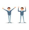 men happy because success successful bosses vector image vector image