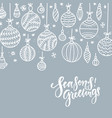 minimalist christmas gray silver background with vector image