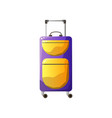 modern plastic wheeled suitcase traveler luggage vector image vector image