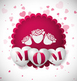 Mothers day card design vector image vector image