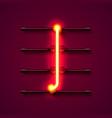 neon font letter i art design signboard vector image vector image
