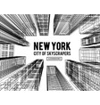 new york is a city skyscrapers vector image
