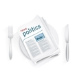 news politics tablewares vector image vector image