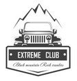 off-road 4x4 extreme car club logo template vector image vector image