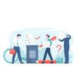 online voting or survey concept flat vector image