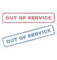 out of service textile stamps vector image vector image