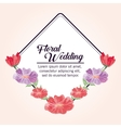 Painting flower icon Floral wedding design vector image vector image
