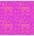 Paris Seamless Pattern with Arc de Triompe vector image vector image