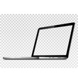 perspective view of laptop with transparent screen vector image vector image