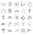 plant food icons set outline style vector image vector image