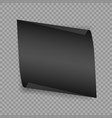 realistic detailed curved white banner ribbon vector image