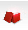 red gift box on white background vector image vector image