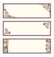 Retro banners with abstract flowers set vector image vector image