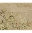 retro grunge floral background vector image vector image
