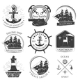 Sailing Black White Emblems vector image vector image