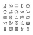 science and technology line icons 11 vector image