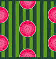 seamless pattern background with watermelon vector image