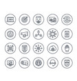 seo digital marketing website analysis line icons vector image