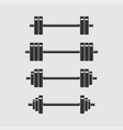 Set of barbells for gym fitness