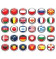 set of flags glossy buttons vector image vector image